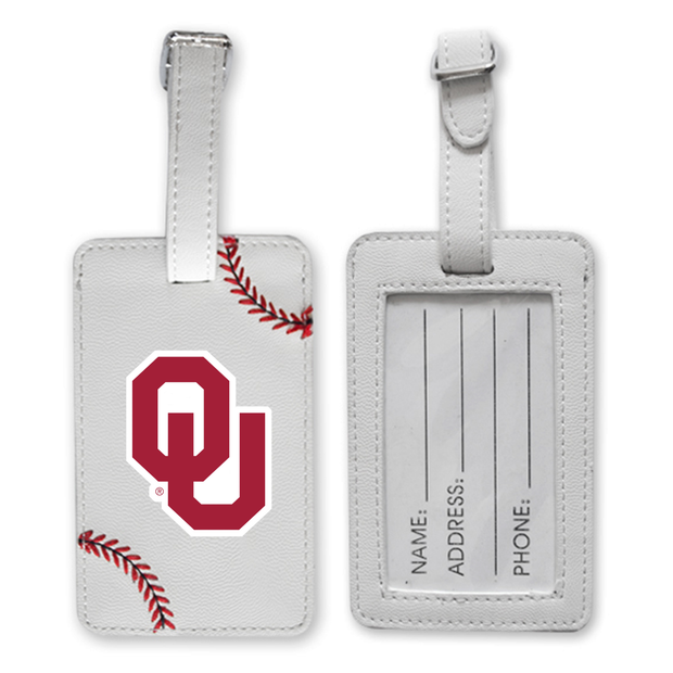 Oklahoma Sooners Baseball Luggage Tag