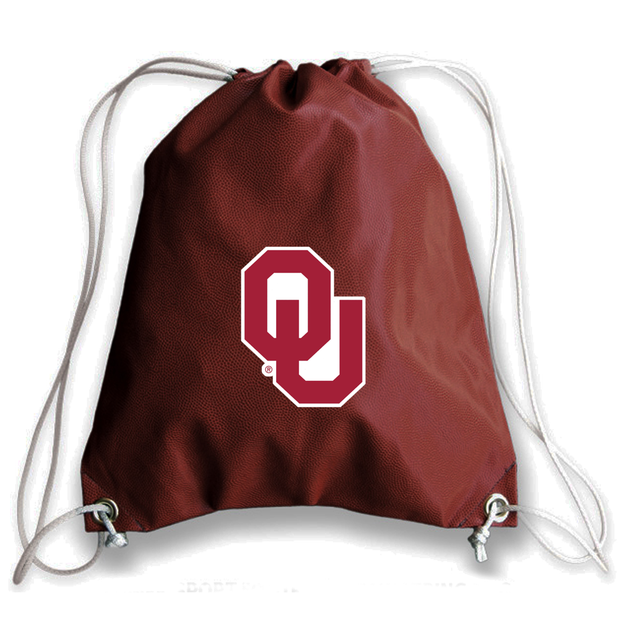 Oklahoma Sooners Football Drawstring Bag