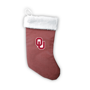 "Oklahoma Sooners 18"" Football Christmas Stocking"