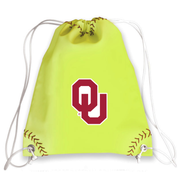 Oklahoma Sooners Softball Drawstring Bag
