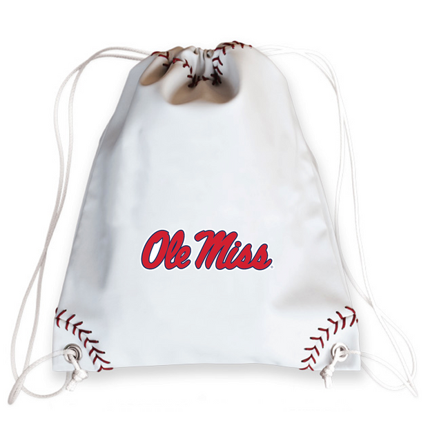 Ole Miss Rebels Baseball Drawstring Bag