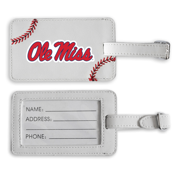 Ole Miss Rebels Baseball Luggage Tag
