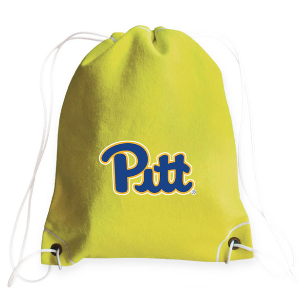 Pitt Panthers Tennis Drawstring Bag