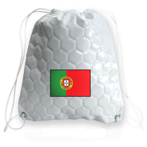 Portugal National Pride Soccer Drawstring Bag
