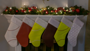 Sports Christmas Stockings made from ball materials