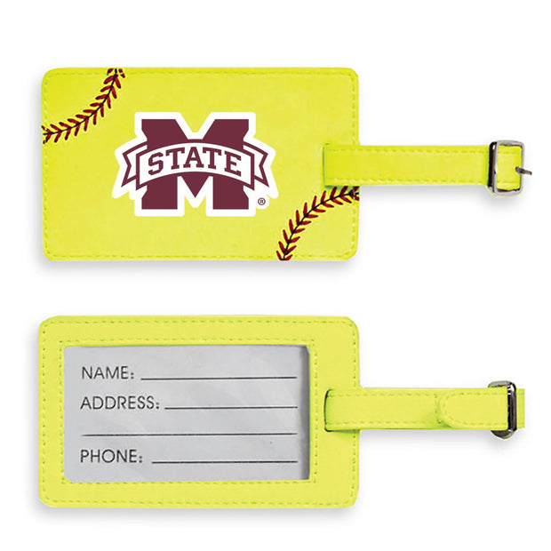 Mississippi State Bulldogs Softball Luggage Tag