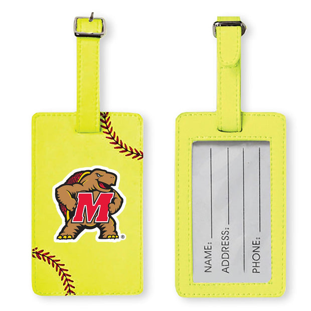 Maryland Terrapins Softball Luggage Tag