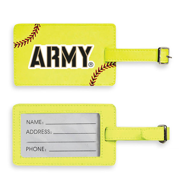 Army Softball Luggage Tag