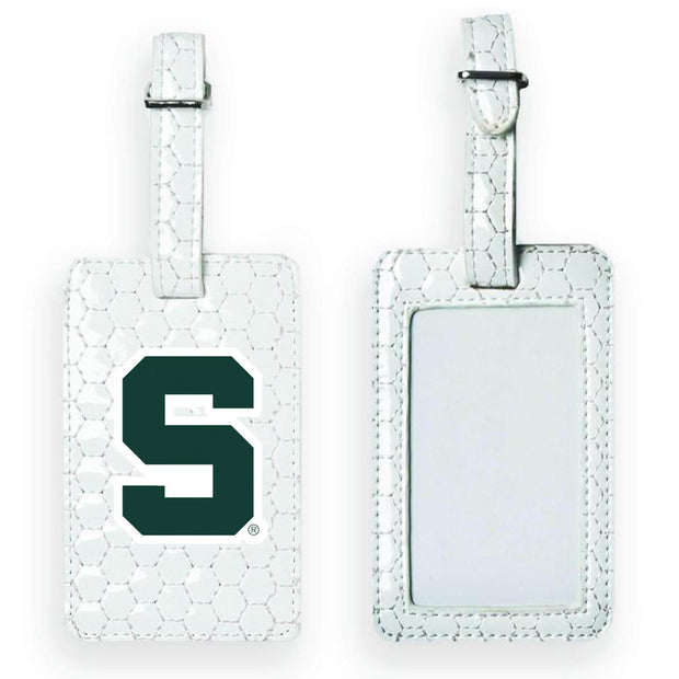 Michigan State Spartans Soccer Luggage Tag