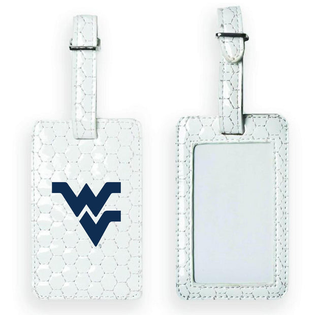 WVU Mountaineers Soccer Luggage Tag