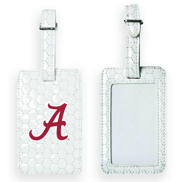 Alabama Crimson Tide Soccer Luggage Tag