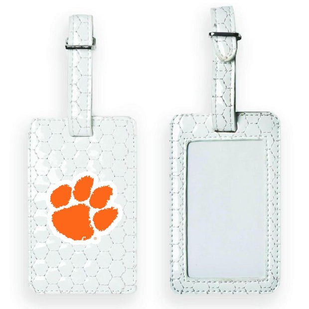 Clemson Tigers Soccer Luggage Tag