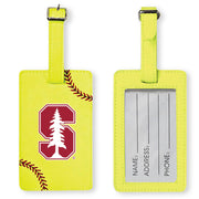 Stanford Cardinal Softball Luggage Tag