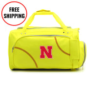 Nebraska Cornhuskers Softball Duffel Bag