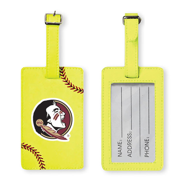 Florida State Seminoles Softball Luggage Tag