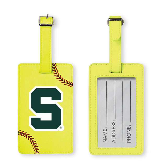 Michigan State Spartans Softball Luggage Tag