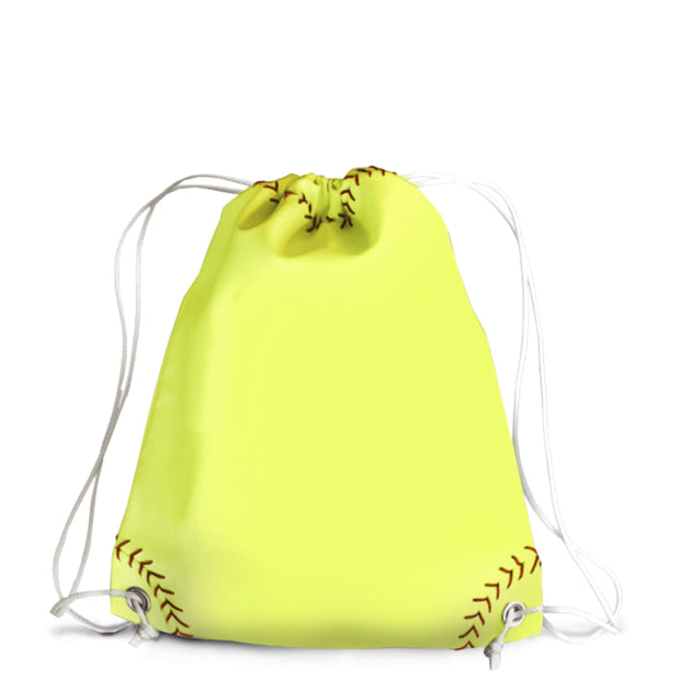 Softball Drawstring Bag