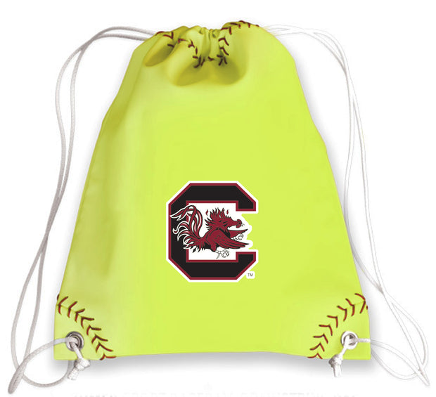 South Carolina Gamecocks Softball Drawstring Bag