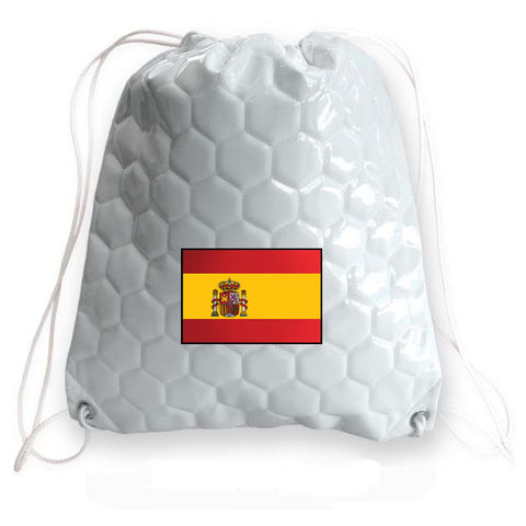 Spain National Pride Soccer Drawstring Bag