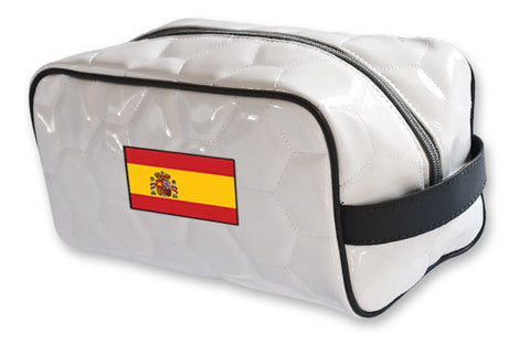Spain National Pride Soccer Toiletry Bag