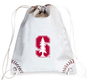 Stanford Cardinal Baseball Drawstring Bag