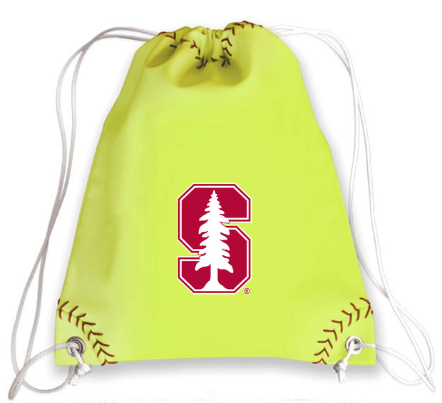 Stanford Cardinal Softball Drawstring Bag
