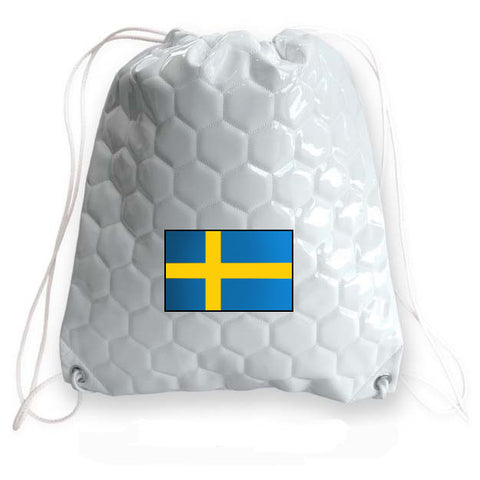 Sweden National Pride Soccer Drawstring Bag