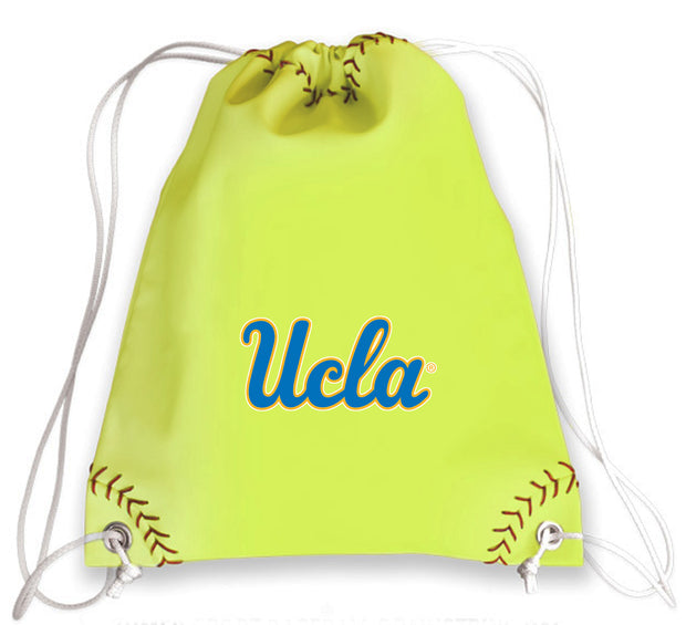 UCLA Bruins Softball Drawstring Bag