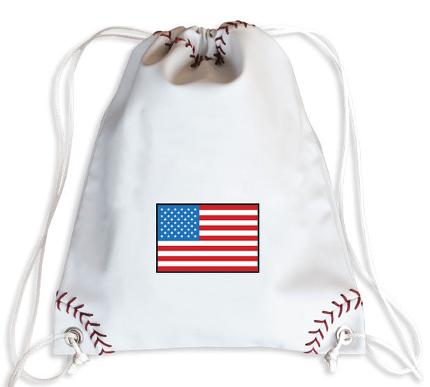 USA Baseball Drawstring Bag