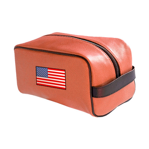USA National Pride Basketball Toiletry Bag