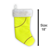 Sports Christmas Stocking made from softball material