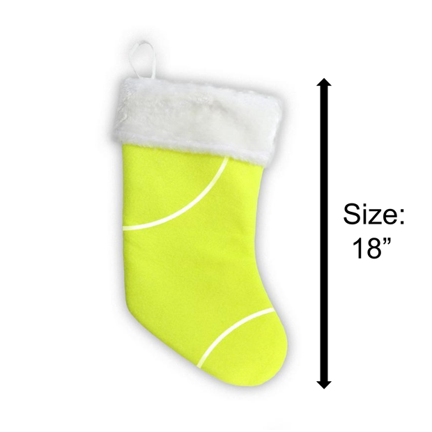 Sports Christmas Stocking made from tennis ball material