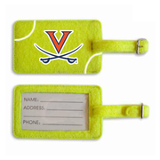 Virginia Cavaliers Tennis Luggage Tag