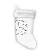 Sports Christmas Stocking made from volleyball material