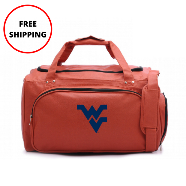 WVU Mountaineers Basketball Duffel Bag