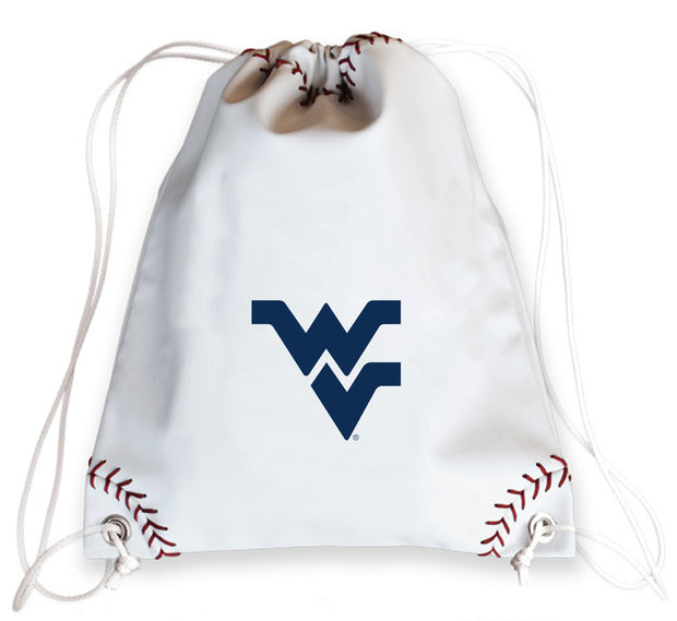 WVU Mountaineers Baseball Drawstring Bag