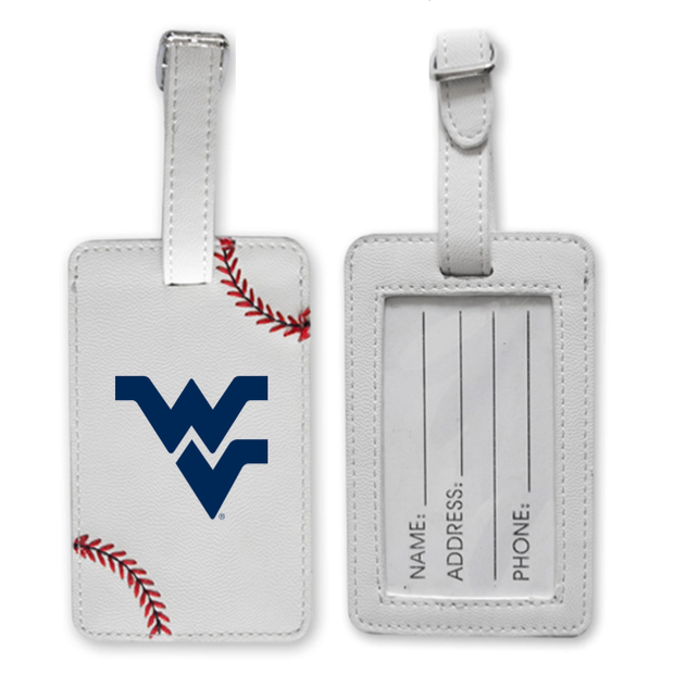 WVU Mountaineers Baseball Luggage Tag