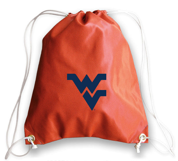 WVU Mountaineers Basketball Drawstring Bag