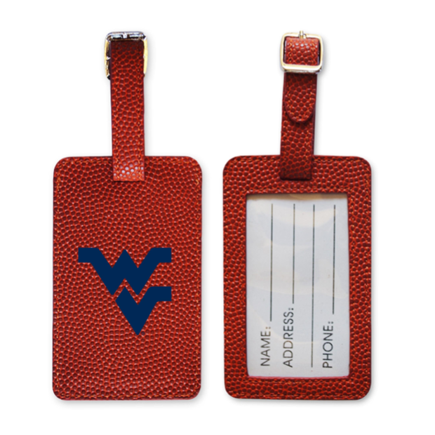 WVU Mountaineers Basketball Luggage Tag