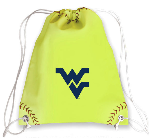 WVU Mountaineers Softball Drawstring Bag