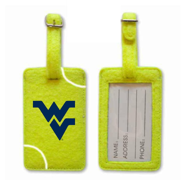 WVU Mountaineers Tennis Luggage Tag
