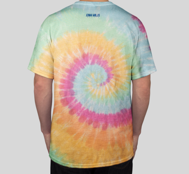 Jenna Willis Fitness 5.4oz 100% Cotton Tie Die T-Shirt