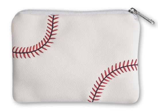Baseball Coin Purse Made From Actual Baseball Materials