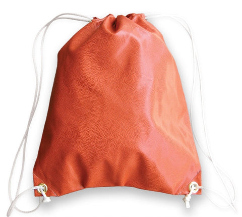 Drawstring Bag Made From Basketball Leather Material