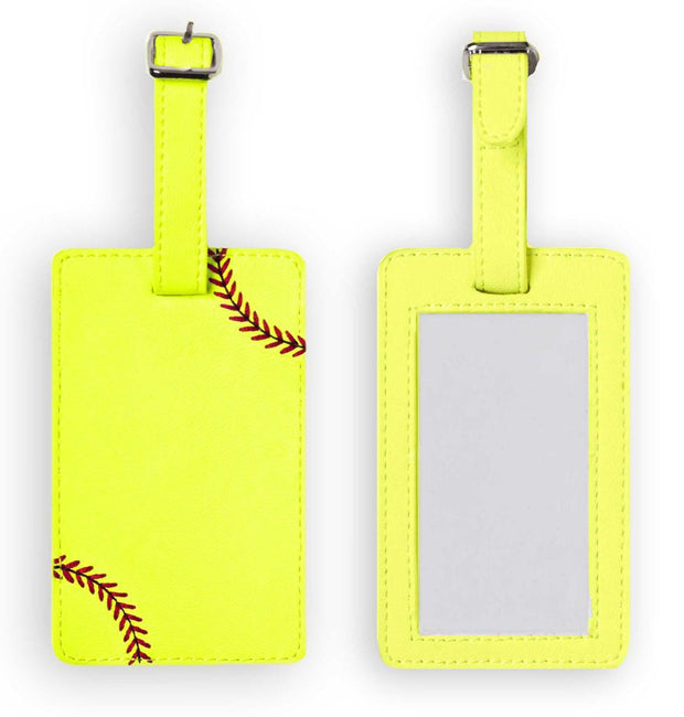 Softball Luggage Tag