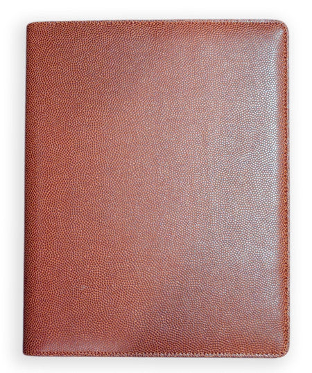 football leather portfolio pad