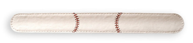 baseball leather slap bracelet