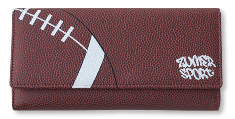 football leather pocketbook wallet