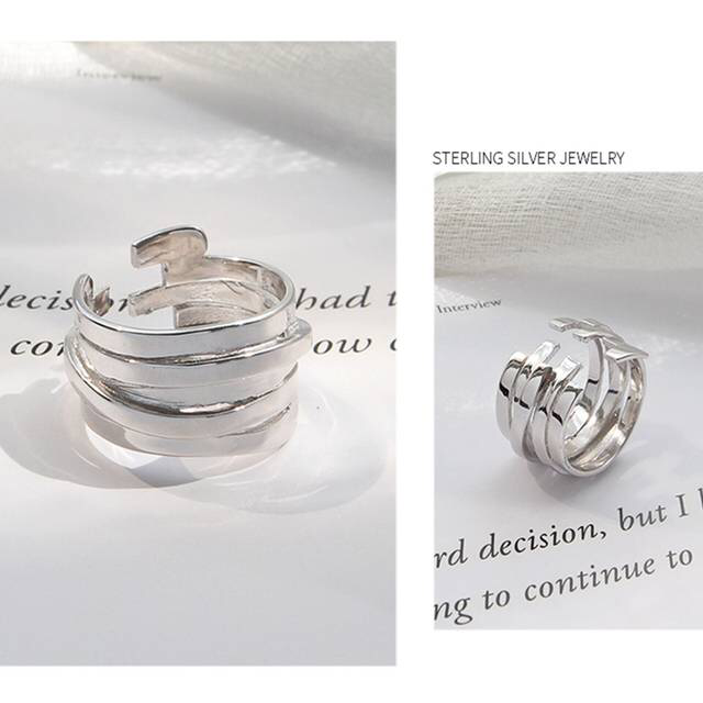 Sterling Silver Multi-layer Winding Ring