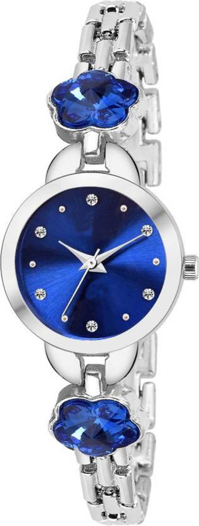 Blue Analog Metal Watch